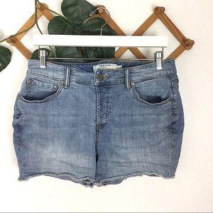 Torrid | Raw Hem Light Wash Blue Denim Jean Shorts